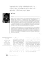 Interventions linking gender relations and violence with reproductive health and HIV: rationale, effectiveness and gaps pptx