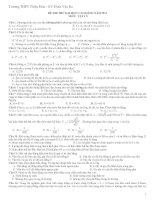Đề Thi Đại Học Khối A, A1 Vật Lý 2013 - Phần 7 - Đề 7 pptx