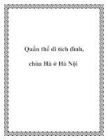 Quần thể di tích đình, chùa Hà ở Hà Nội docx