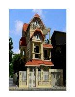 Thiết kế biệt thự 3 tầng theo phong cách châu Âu docx