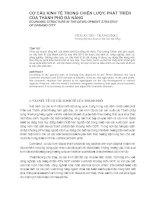 CƠ CẤU KINH TẾ TRONG CHIẾN LƯỢC PHÁT TRIỂN CỦA THÀNH PHỐ ĐÀ NẴNG pptx