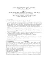 đáp án đề thi lí thuyết tốt nghiệp khóa 2 - kế toán doanh nghiệp - mã đề thi  da ktdn - lt (26)