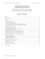Interpretive Guidance for Project Manager Positions - Including Guidance for Classifying, Staffing, Training, and Developing IT Project Managers docx