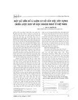 Báo cáo khoa học: Một số vấn đề lý luận cơ sở của việc xây dựng chiến lược dạy và học ngoại ngữ ở Việt Nam pptx