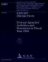 export promotion federal agencies activities and resources in fiscal year 1999 pptx