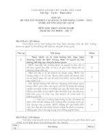đáp án đề thi tốt nghiệp cao đẳng nghề hướng dẫn du lịch môn thi thực hành nghề mã đề thi hddl - th (17)