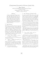 Báo cáo khoa học: compositional account of the semantics of German prefix verbs pptx