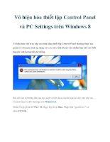 Vô hiệu hóa thiết lập Control Panel và PC Settings trên Windows 8 pot