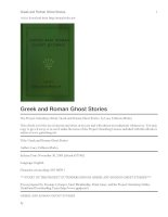 Greek and Roman Ghost Stories pptx