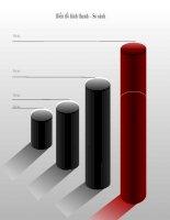 biểu đồ powerpoint hình thanh - so sánh,bar chart