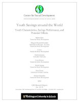 Youth Savings around the World - Youth Characteristics, Savings Performance, and Potential Effects docx