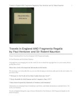 Travels in England AND Fragmenta Regalia docx