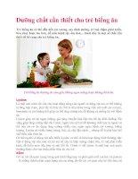 Dưỡng chất cần thiết cho trẻ biếng ăn docx