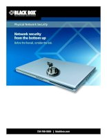 Physical Network Security: Network security from the bottom up pdf