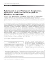 Tuberculosis in Liver Transplant Recipients: A Systematic Review and Meta-Analysis of Individual Patient Data doc