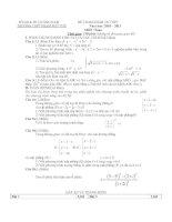 Đề Thi Thử Đại Học Toán 2013 - Đề 40 potx