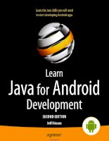 Learn Java for Android Development Second Edition potx