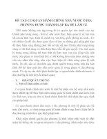 ĐỀ TÀI: CƠ QUAN HÀNH CHÍNH NHÀ NƯỚC Ở ĐỊA PHƯƠNG ĐƯỢC THÀNH LẬP RA ĐỂ LÀM GÌ ppt