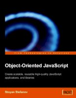 Friday Freebies: Object-Oriented Javascript pdf