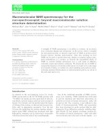 Báo cáo khoa học: Macromolecular NMR spectroscopy for the non-spectroscopist: beyond macromolecular solution structure determination potx
