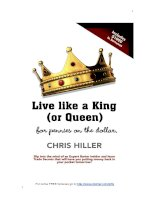 Live like a King (or Queen) for pennies on the dollar pptx
