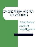 XÂY DỰNG WEB BÁN HÀNG TRỰC TUYẾN VỚI JOOMLA - Cấu hình để hoàn chỉnh website docx