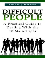 Difficult People A Practical Guide to Dealing With the 10 Main Types ppt