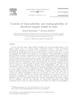 Controls of bioavailability and biodegradability of dissolved organic matter in soils