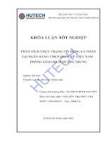 Luận văn:Phân tích thực trạng tín dụng cá nhân tại NH TMCP Quốc tế VN - phòng GD Quang Trung pdf