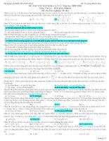 ĐỀ THI THỬ VẬT LÝ - LUYỆN THI ĐẠI HỌC SỐ  12