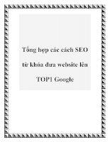 Tổng hợp các cách SEO từ khóa đưa website lên TOP1 Google docx
