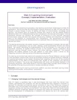 Web 2.0 Learning Environment: Concept, Implementation, Evaluation pdf