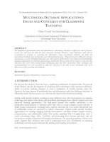 MULTIMEDIA DATABASE APPLICATIONS: ISSUES AND CONCERNS FOR CLASSROOM TEACHING docx