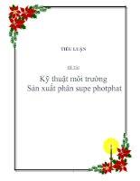 tiểu luận đề tài kỹ thuật môi trường sản xuất phân supe photphat