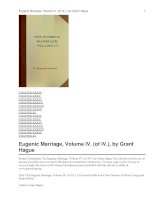 Eugenic Marriage, Volume IV ppt