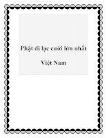 Phật di lạc cười lớn nhất Việt Nam docx