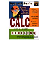 calculus for the clueless, calc ii - bob millers
