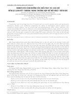 NGHIÊN CỨU ẢNH HƯỞNG CỦA KIỂU MAY VÀ LOẠI CHỈ ĐẾN SỰ LÀNH VẾT THƯƠNG TRONG TRƯỜNG HỢP MỔ NỐI RUỘT TRÊN CHÓ doc