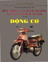 sửa chữa và bảo dưỡng xe mô tô hai bánh tập 1 động cơ