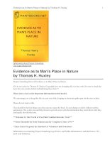 Evidence as to Man''''s Place in Nature docx