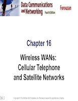 Chapter 16 Wireless WANs: Cellular Telephone and Satellite Networks pot