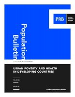 Urban Poverty and Health in developing Countries docx