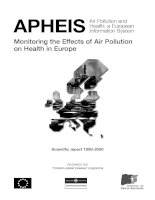 APHEIS- Monitoring the Effects of Air Pollution on Health in Europe doc