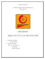 BÀI TẬP LỚN MÔN: VI XỬ LÝ VÀ CẤU TRÚC MÁY TÍNH pdf