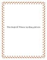 Thủ thuật để Winrar tự động giải nén potx