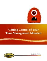 Getting Control of Your Time Management Monster pot