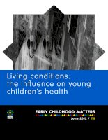 Living conditions: the influence on young children's health doc