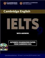 Cambridge english IELTS 9 Part 1 pdf