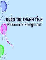 bài giảng quản trị nguồn nhân lực ( lê thị thảo) - chương 6 quản trị thành tích