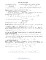 đề thi thử đại học lần 1 môn toán khối a,b 2014 - thpt chuyên vĩnh phúc